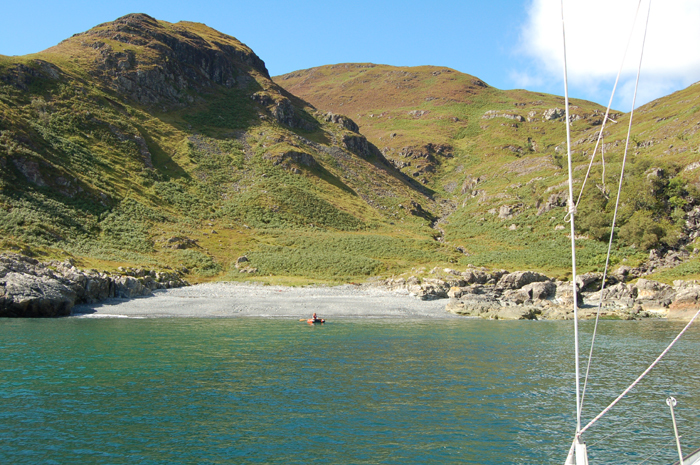 The approach to Port Ohirnie (Port Odhar), Isle of Mull