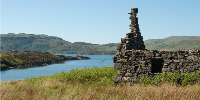 Ruined cottage, Oronsay